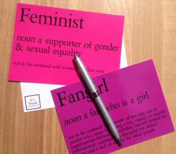 Feminist and fangirl definition posters