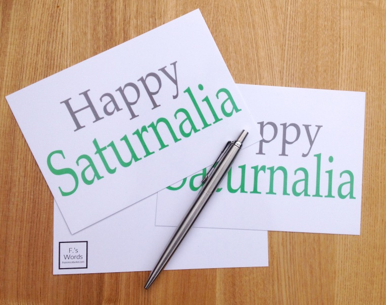 Saturnalia Postcards