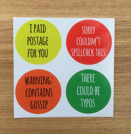 Sarcastic Snail Mail Stickers