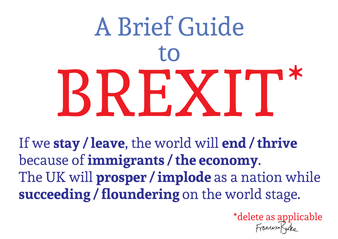 A Brief Guide to Brexit poster by Francesca Burke