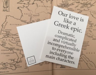 Our Love is Like a Greek Epic Francesca's Words