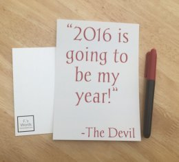We Should Have Known 2016 Would Be Terrible When Bowie Died. 2016 satire by Francesca's Words