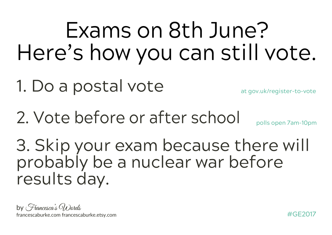 Students Guide to Voting GE2017 by Francesca Burke