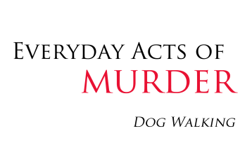 red white and black advert for Everyday Acts of Murder by Francesca Burke