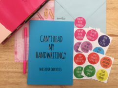 Francesca's Words Make Your Own Notes Notebook and Snail Mail Stickers