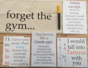 Francesca's Words Mythology Mayhem Tote Bag and Print Bundle