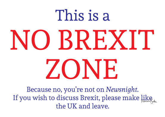 No Brexit Zone signed copy