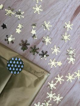 Francesca's Words gold Christmas gift wrap upgrade