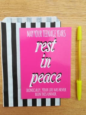 RIP teenage years 20th birthday pink print