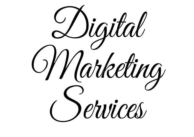 Digital marketing services banner black on white Francesca Burke