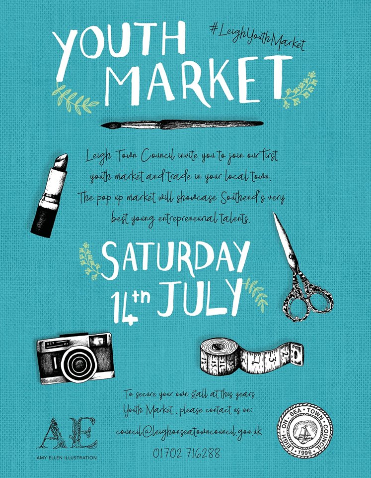 Youth Market Leigh on Sea 14th July 2018 advert