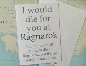 I Would Die for You at Ragnarok Card and Envelope