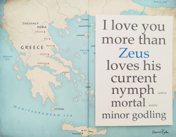 I Love You More Than Zeus Loves... card
