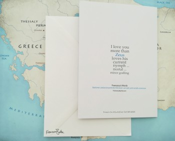 I Love You More Than Zeus Loves... back of card