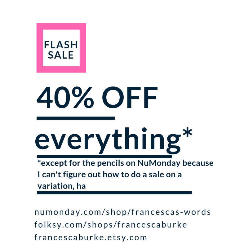 40% off sale Francesca's Words
